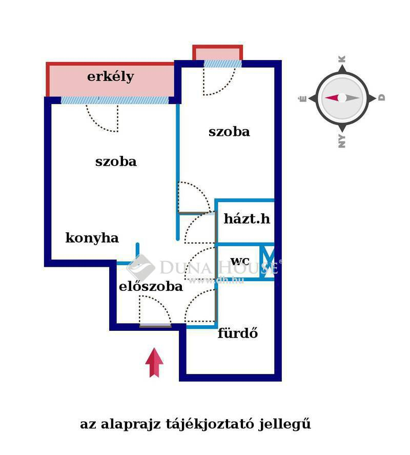 Eladó Lakás, Budapest, 13 kerület, Újszerű 2 szoba, erkélyes teljes bútorzattal