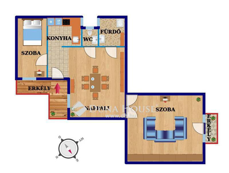 Eladó Lakás, Budapest, 7 kerület, Bútorozott, város szívében,de mégis csendes otthon
