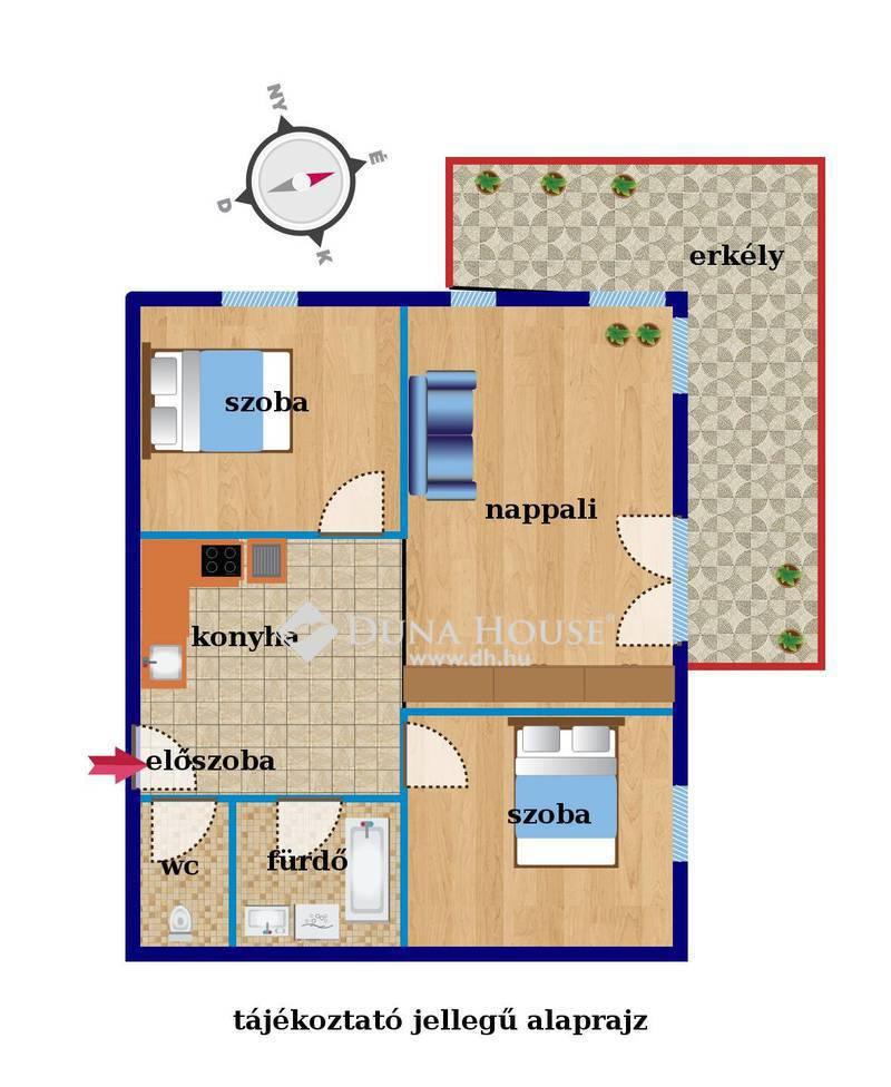 Eladó Lakás, Budapest, 3 kerület, Új építésű lakóparkban, 3 szoba, erkély