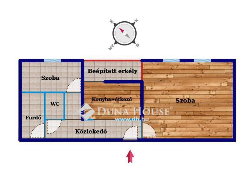 Eladó Lakás, Komárom-Esztergom megye, Tatabánya, Dózsakertben kétszobás, beépített erkélyes