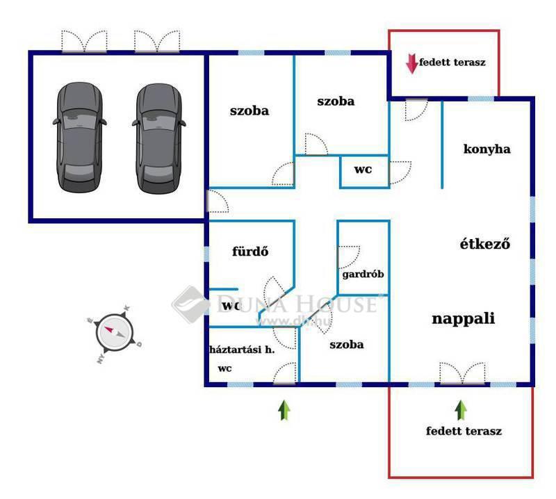 Eladó Ház, Bács-Kiskun megye, Kecskemét, 98nm családi ház+ 29nm dupla garázs,500nm telken