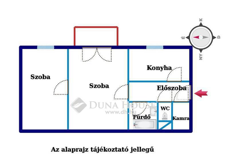 Eladó Lakás, Budapest, 13 kerület, Rákos pataknál 3 szobássá alakítható