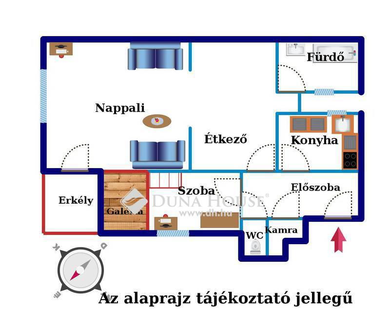 Eladó Lakás, Budapest, 2 kerület, Mammut közelében, 2 szobás, csendes, erkélyes