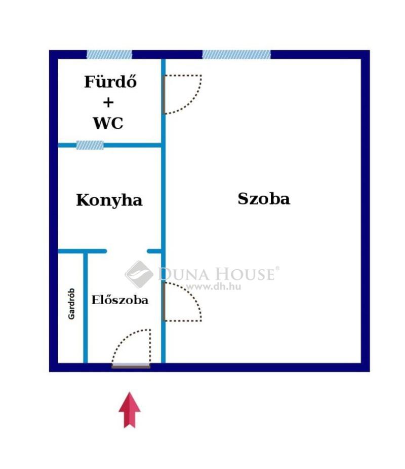 Eladó Lakás, Budapest, 18 kerület, Szigetelt házban, 28 nm-es garzon