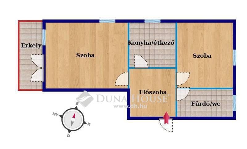 Eladó Lakás, Baranya megye, Pécs, 'Hársfa lakópark-1.emelet-56 m2-erkélyes'