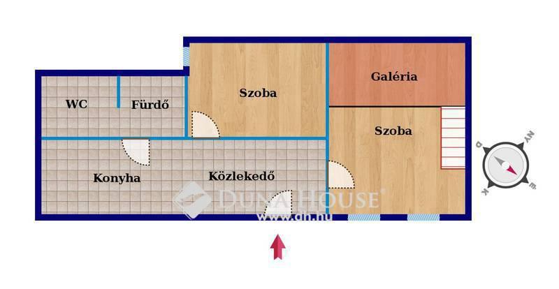 Eladó Lakás, Budapest, 9 kerület, Ernő utcában felújított, galériás, 2 szobás lakás