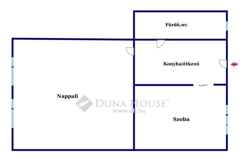 Eladó Lakás, Budapest, 13 kerület, Emeleti, külön nyíló szobás jó, állapotú lakás