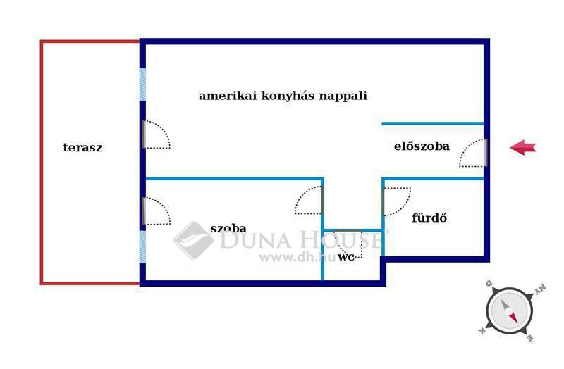 Eladó Lakás, Budapest, 13 kerület, Futár utcában nagy teraszos 2 szobás lakás