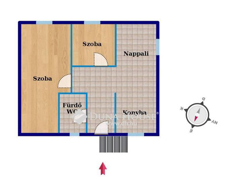Eladó Ház, Bács-Kiskun megye, Kecskemét, Eladó kis családi házrész, kertvárosi övezetben