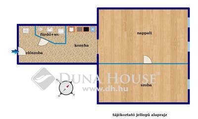 Eladó Lakás, Budapest, 8 kerület, Nappali+2 háló, újszerű, emeleti lakás