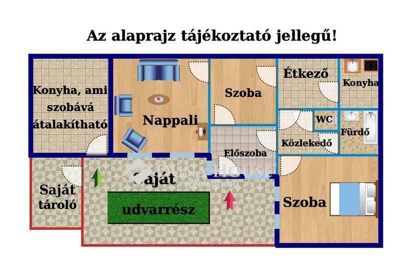 Eladó Ház, Budapest, 20 kerület, Kiváló közlekedéssel, szigetelt, kertes házrész