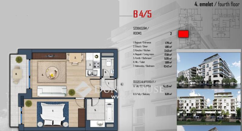 Eladó Lakás, Budapest, 13 kerület, Klapka Residence a kerület szívében