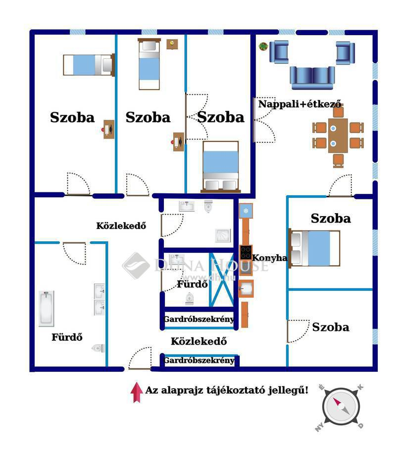 Eladó Lakás, Budapest, 7 kerület, Rákóczi út, 6 szobás,igényes,minőségi felújítás